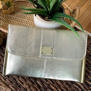 Dorothy Perkins Gold Clutch bag